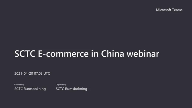 Aventura Hosts Webinar on China E-commerce with Sweden-China Trade Council